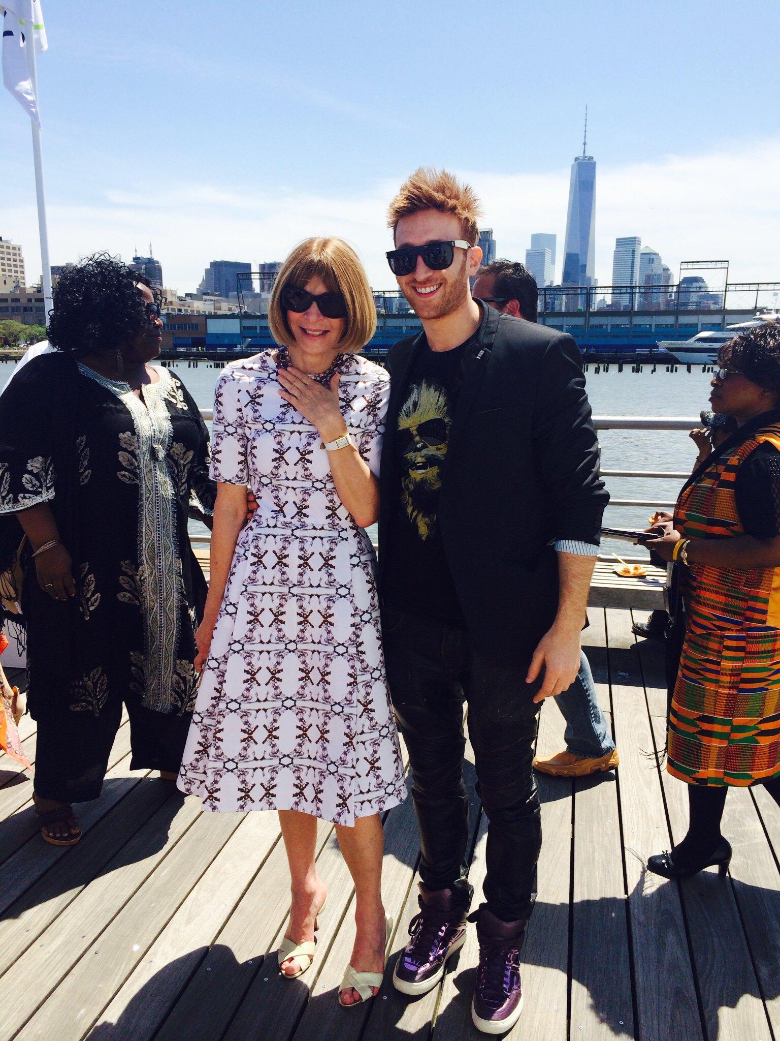 Elliot with fashion icon Anna Wintour
